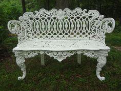 American Victorian Cast Iron Garden Bench From Fallingcreekgarden On Ruby Lane Furniture