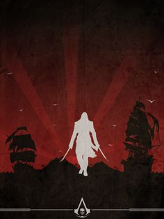 Assassin's Creed Minimalist Posters: Edward Kenway, Assassin's Creed IV: Black Flag