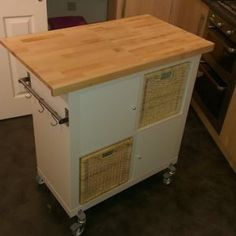 Expedit 2x4 Bookcase Vika Amon Table Top Casters From Hardware Store Screws Anchors Drill