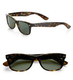 Ray-Ban New Wayfarer Square Polar Sunglasses Tortoise