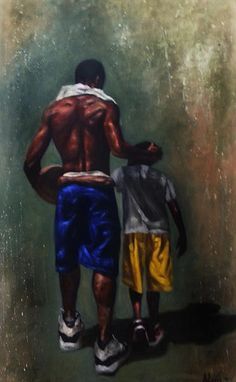 Biggest Fan - Original Oil - Alonzo Adams