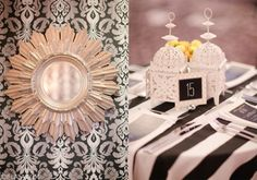 Black and white wedding details with yellow accents.  Chelsea and Scott, from JOIELALA