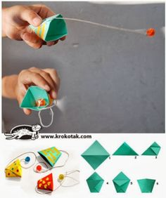 ORIGAMI Kalender 2019 + Anleitung, Crafting a tutorial paper remains a challenging, making an attempt, and overwhelming task Kids Crafts, Summer Crafts, Diy And Crafts, Arts And Crafts, Origami Cup, Paper Crafts Origami, Paper Games For Kids, Activities For Kids, Operation Christmas Child