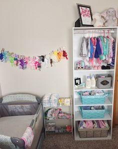 Making it work baby storage, kids storage, bookshelf closet, baby shelves, Baby Nursery Closet, Baby Bedroom, Baby Room Decor, Babies Nursery, Baby Girl Closet, Nursery Room, Nursery Ideas, Baby Room Storage, Baby Clothes Storage