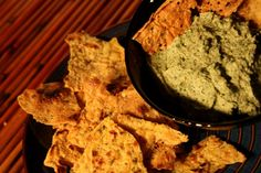 Chickpea chips! perfect for tv/Jersey Shore night!.... mmm baba ghanouj