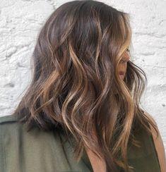 35 Caramel Hair Color Ideas & Trends: Highlights, Styles and Caramel Ombre, Caramel Blonde, Caramel Balayage, Caramel Hair Highlights, Hair Color Caramel, Bob Styles, Short Hair Styles, Curly Lob, Pretty Braids