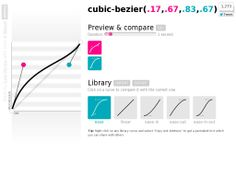 cubic bezier  The website 'http://cubic-bezier.com/#.17,.67,.83,.67' courtesy of @Pinstamatic (http://pinstamatic.com)