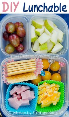 Homemade Lunchables are so easy to pack with EasyLunchboxes Containers