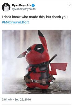 """All The Best Memes & Reactions To The Insane 'Detective Pikachu' Trailer - Funny memes that """"GET IT"""" and want you to too. Get the latest funniest memes and keep up what is going on in the meme-o-sphere. Marvel Comics, Marvel Funny, Marvel Memes, Deadpool Und Spiderman, Deadpool Pikachu, Deadpool Funny, Deadpool Pics, Deadpool Costume, Pokemon"""