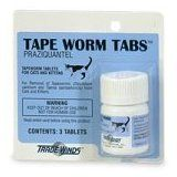 Tape Worm Tabs Feline (Praziquantel) 23 mg, 3 Tablets (Misc.)By TradeWinds