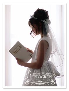 This made me thing of a flower girl wearing the veil instead of me... Ignore the bible