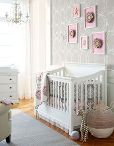 Girl Nursery Idea - overall look is nice, minus the pink  @Kerry Patterson Lajeunesse