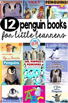 Our 12 favorite penguin books are perfect for your winter and penguin lesson plans. These are great for preschool, kindergarten, or first grade students. Preschool Books, Kindergarten Science, Science Activities, Winter Activities, Preschool Winter, Winter Craft, Preschool Ideas, Classroom Activities, Toddler Activities
