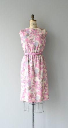 Aquarelle dress floral 1960s dress vintage 60s by DearGolden