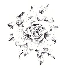 © All rights reserved to Rubymoon Design All artwork is under copyright and belongs to Karine P. Body Art Tattoos, Sleeve Tattoos, Dotwork Tattoo Mandala, Bauch Tattoos, Dotted Drawings, Rose Tattoos For Men, Stippling Art, Tattoo Graphic, Small Girl Tattoos