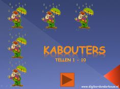 Digibordles: Kabouters tellen 1 - 10 http://digibordonderbouw.nl/index.php/themas/herfst/kabouters/viewcategory/169