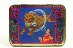 Samson Special Vintage Advertising Dutch Tobacco Tin - Smoking Circus Lion
