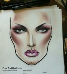 Beautiful MAC Face Chart #makeup #FaceChart