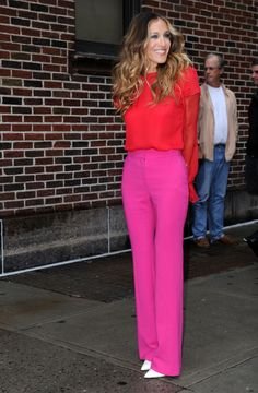 Sarah Jessica Parker arrives at the Late Show with David Letterman in New York