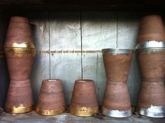 the HUNTED INTERIOR: Gold Leaf Terracotta Pots