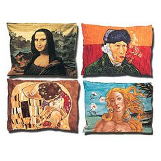 Dream of spending a day at the Louvre? Save the airfare and spend the night with an art-world wonder by sleeping on a Headcase Pillow Sham from ShopTheArtStore.com. A printed-on-cotton Da Vinci, Van Gogh, Botticelli, or Klimt will cost you $35.99.  - GoodHousekeeping.com