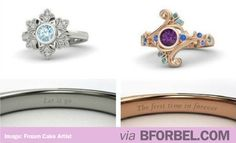 """Frozen""'s Elsa And Anna Inspired Engagement Rings… i've pinned these like a billion times but still"
