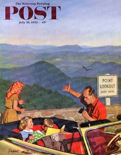 Point Lookout by Richard Sargent, July 18, 1953, Saturday Evening Post.