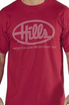 Hills Stores T-Shirt: Retro Retail Stores T-shirt