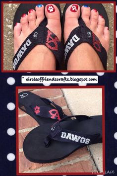 Photo on Circle of Friends Crafts: Sports Flip Flops