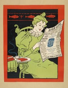 Commercial poster for High Life Java & Mocha Coffee, c. 1895.