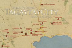 Tagaytay Tourist Spot Map Travel Checklist, Packing Tips For Travel, Budget Travel, Travel Guide, Tourist Map, Tourist Spots, Europe Beaches, Free Certificate Templates, Relationship Quotes For Him