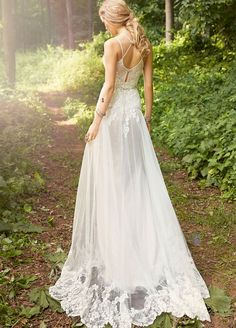 Ivory / Cashmere A-line bridal gown with placed lace throughout. Sweetheart neckline with jeweled closures at back, crystal embroidered trim at the natural waist. Bridal Gowns, Wedding Dresses from Ti Adora by Alvina Valenta - JLM Couture - Bridal Style 7560 by JLM Couture, Inc.