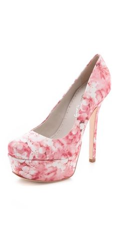 Smell the spring? I do!  alice + olivia Larimore Platform Pumps