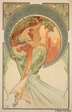 Alphons Mucha | The Arts : Poetry(1898)