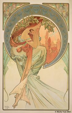 Alphons Mucha | The Arts : Poetry(1898)