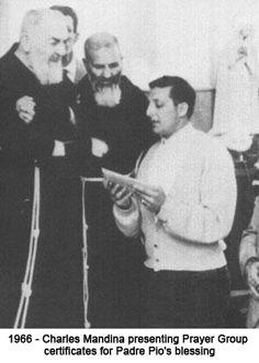 My Uncle Charlie with Padre Pio. <3  phatpuppyart.com