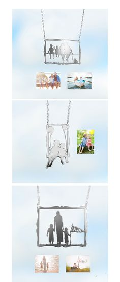 Necklace silhouettes made from your photos. How awesome are these?!