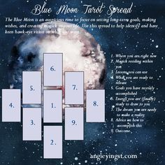 Tarot Spread for the Blue Moon