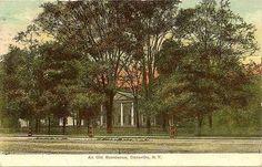 Dansville NY Residence Livingston County Postcard Y5360