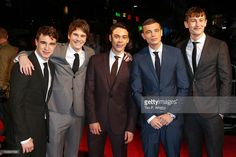 Adam Long, Nico Mirallegro, Oliver Heald, Jordan Murphy and actor Elliott Tittensor attends the premiere of 'Spike Island' during the 56th BFI London Film Festival at Odeon West End on October 11, 2012 in London, England.