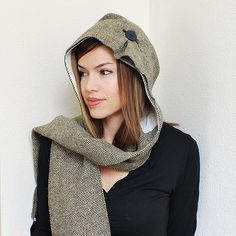 Tweed Hooded Scarf | by Pretty Ditty