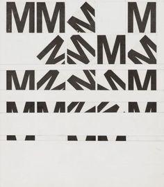 [Experiment mit dem Buchstaben M]-Schrift / Typografie