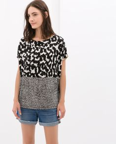Image 1 of OVERSIZE PRINTED T-SHIRT from Zara