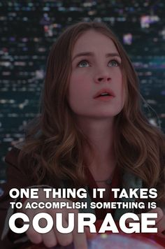 """""""One thing it takes to accomplish something is courage."""" - Walt Disney. Tomorrowland is out on Blu-ray™, Digital HD & Disney Movies Anywhere Oct. 13"""