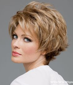 Short Hair Styles For Women Over 50   MICKI by Envy   Monofilament Wigs by Wilshire Wigs