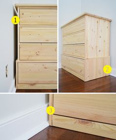 Young House Love | Turning Store Bought Dressers Into Bedroom Built-Ins | http://www.younghouselove.com