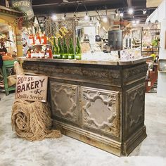 This counter has shipped to so many customers. We are crazy about this pressed tin piece. #peacockparkdesign #bestcounterever #lovethis #pressedtin