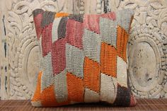 Handmade Pillow 12 x 12 Traditional  Pillow 30 by kilimwarehouse, $18.00