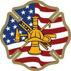 Firefighter Shirts - Casual Fireman T-Shirts Firefighter Decals, Firefighter Shirts, Stencil Art, Stencils, Wooden American Flag, Maltese Cross, Fire Department, Shirt Shop, Shop Now