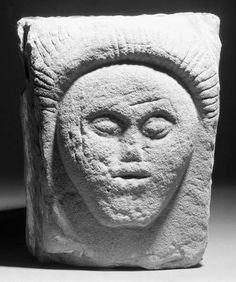 A celtic sandstone head - c. century B. Old Stone, Stone Art, Celtic Culture, Celtic Mythology, Celtic Art, Iron Age, Stone Sculpture, Antiquities, Ancient Art